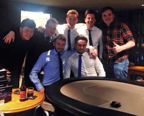 Alex Whitfield & Friends at a poker night in the Genting Casino, Manchester